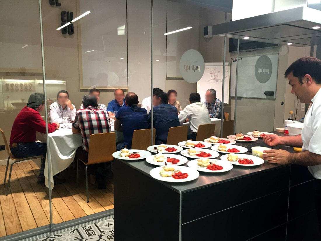 eventos pop up michelin show cooking team building Valladolid