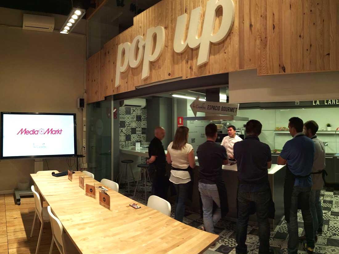eventos pop up media markt valladolid cocina alquiler salas