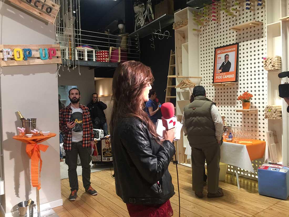 eventos pop up presentacion medios ciudadanos Valladolid televisión
