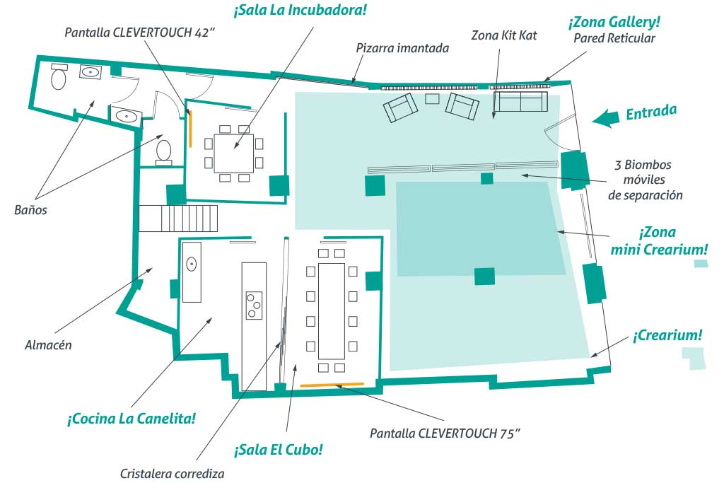 plano espacio pop up coworking valladolid eventos